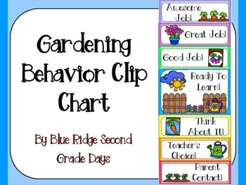 Gardening Behavior Clip Chart
