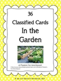 Gardening Classified Cards, In the garden flash cards, Montessori Language