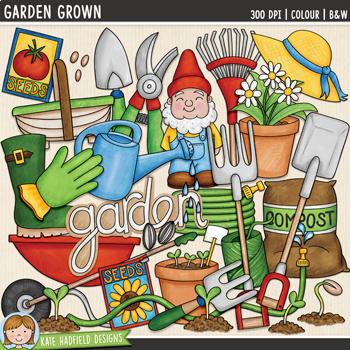 "Gardening Clip Art: ""Garden Grown"""