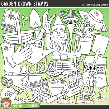 "Gardening Clip Art: ""Garden Grown"""