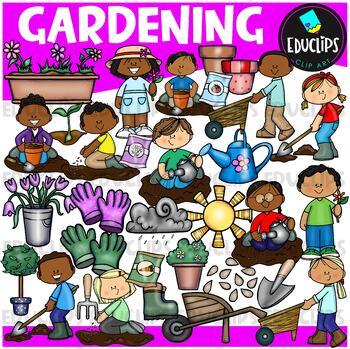 Gardening Clip Art Bundle {Educlips Clipart}