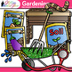 Gardening Clip Art {Vegetables, Seedling, Worms, Soil, & Hose for Spring Garden}