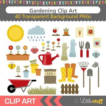 Gardening Clipart, Garden Clip Art Set, Spring Activities Clip Art