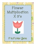 Gardening File Folder Game- Multiplying by 3's