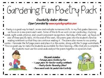Gardening Fun Poetry Pack