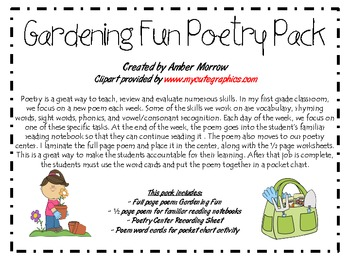 Gardening Fun Poetry Pack
