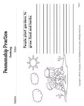 Gardening (Kindergarten Topic Unit 2)
