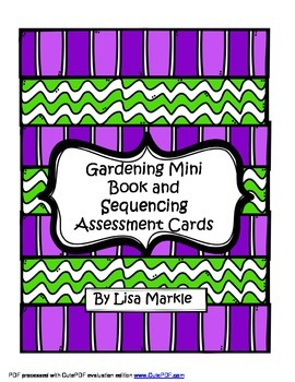 Spring Garden and Plants Emergent Reader and Sequencing As