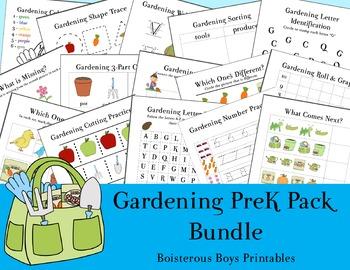 Gardening PreK Printable Pack Bundle