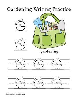 Gardening PreK Printable Pack Part 1