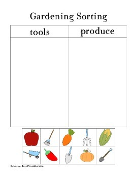 Gardening PreK Printable Pack Part 2