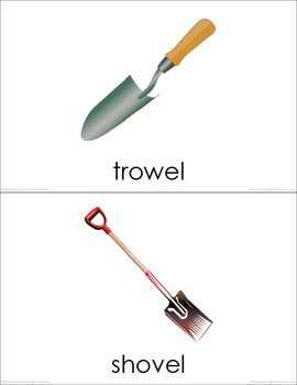 Gardening Tools (set I) Picture Flashcards