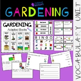 Gardening VOCABULARY UNIT (SPED/Autism/Elementary)
