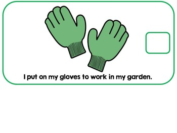 Gardening Work & Tools Adapted Interactive Book {Autism, Early Childhood}