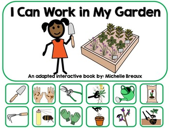 Gardening Work & Tools Adapted Interactive Book {Autism, E