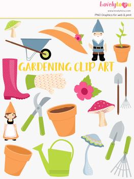 Gardening clipart, spring garden clip art (LC33)