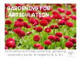 Gardening for Articulation - R, S, L Activities