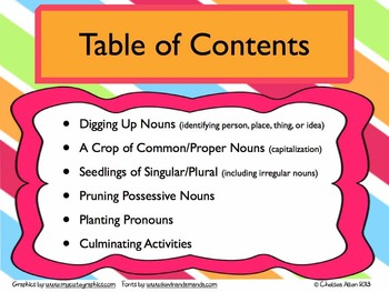 Gardening for Nouns - BUNDLED