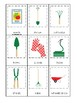 Gardening themed 3 Part Matching Game.  Printable Preschool Game