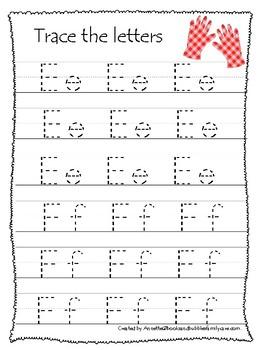 Gardening themed A-Z Tracing Worksheets.Printable Preschool Handwriting