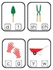 Gardening themed Beginning Sounds Clip It Game.Printable Preschool Game
