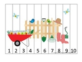 Gardening themed Number Sequence Puzzle 1-10 preschool lea