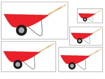 Gardening themed Size Sequence. Printable Preschool Game