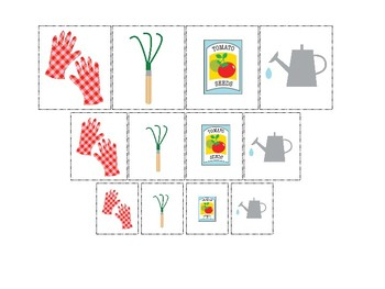 Gardening themed Size Sorting. Printable Preschool Game.