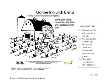 Gardening with Elena ADVANCED ACTIVITY (Kinder-3rd grade)