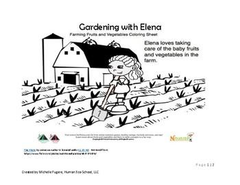 Gardening with Elena Simple Activity (Pre-K through 1st grade)