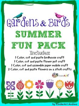 Gardens & Birds Summer Fun Craft Pack