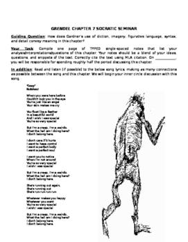 Gardner's Grendel: Chapters 6 & 7 Socratic Seminars