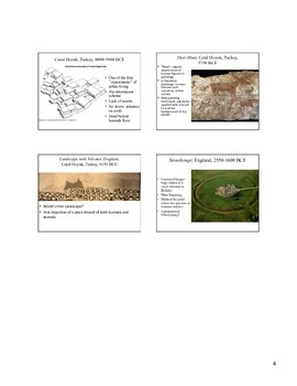 Paleolithic and Neolithic Art Work Notes