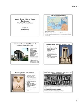 Roman Art Notes