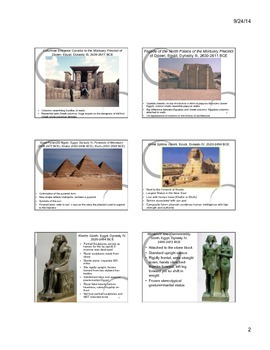 Egyptian Art Notes