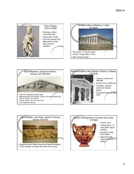 Greek Art Notes