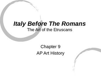 Etruscan Art Powerpoint (Gardner's Art Through the Ages- C