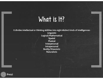 Gardner's Theory of Multiple Intelligences