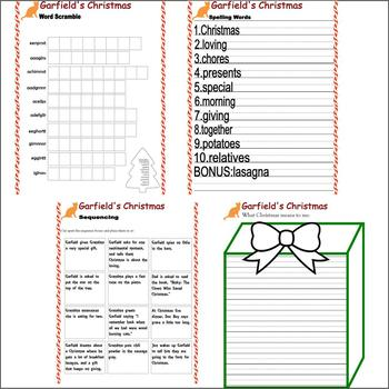 Garfield's Christmas : Reading TV Comprehension Book Companion & Activity Pack