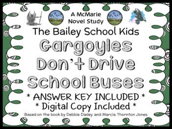 Gargoyles Don't Drive School Buses (The Bailey School Kids) Novel Study (27 pgs)