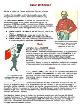 garibaldi and italian unification worksheet bundle by drew bailey. Black Bedroom Furniture Sets. Home Design Ideas