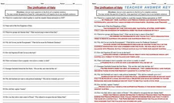 Garibaldi and italian unification worksheet bundle by drew bailey garibaldi and italian unification worksheet bundle gumiabroncs Images
