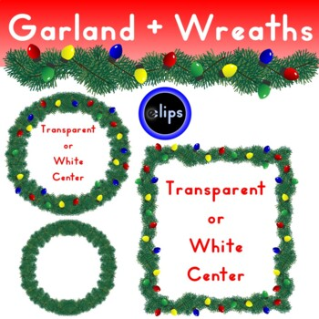 Garland Wreath Banner Frame Lighted Colorful Bulbs Christmas Holiday Decoration