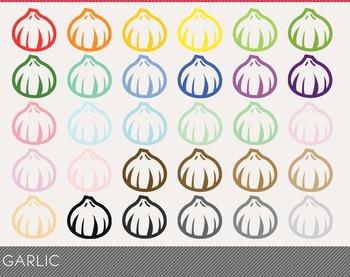 Garlic Digital Clipart, Garlic Graphics, Garlic PNG