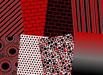 Garnet & Black Digital Papers  (University of South Carolina Team Colors)