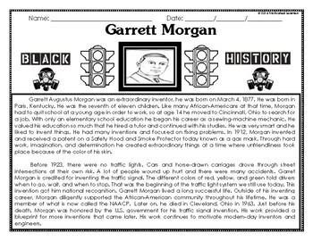 Garret Morgan Black History Month Activities