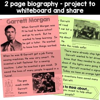 Garrett Morgan Black History Simple Reading Activity for Kindergarten