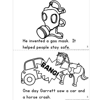 About garrett morgan worksheets kindergarten about best for Black inventors coloring pages