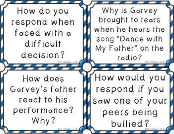 Garvey's Choice Discussion Question Cards