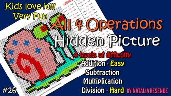Gary - Mystery Picture - 4 operations - Four level difficulty.
